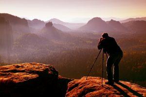 Photographer capturing the sun